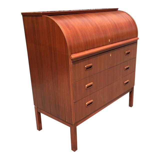 Secretary Roll Top Desk - Image 1 of 10