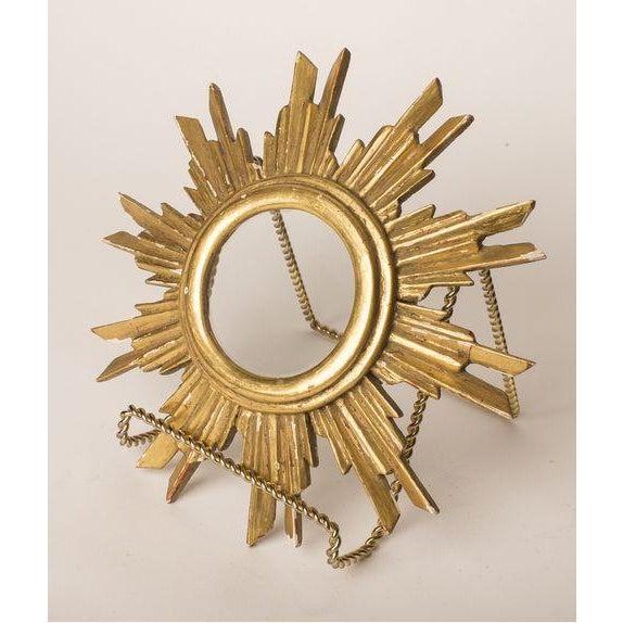 French Gilt Wood Sunburst Religious Relic - Image 6 of 6