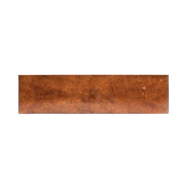 Mid-Century Modern Milo Baughman Burl Wood Console Table For Sale In Los Angeles - Image 6 of 10
