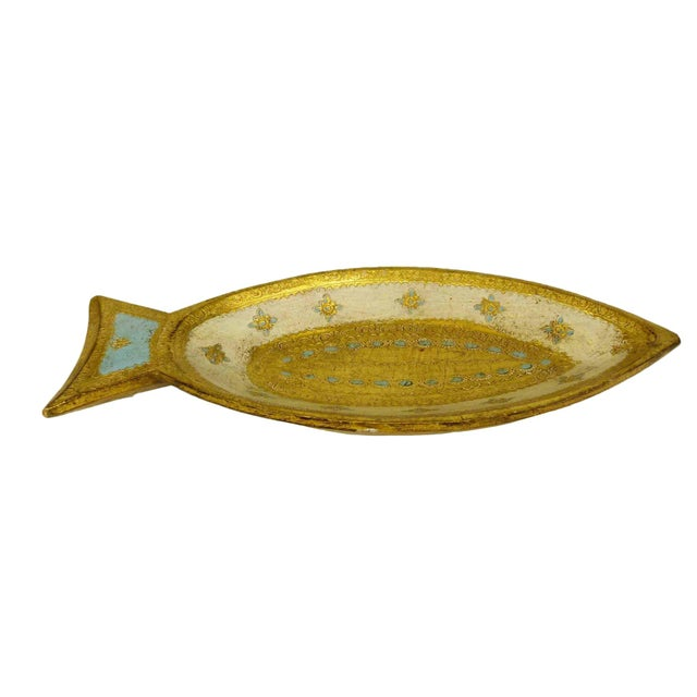 Florentine Gilt Wood Fish Tray - Image 2 of 7
