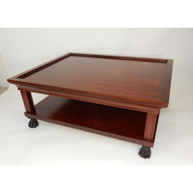 Late 20th Century Traditional Two Tier Mahogany Coffee Table by Ralph Lauren 50 Inches For Sale - Image 5 of 13