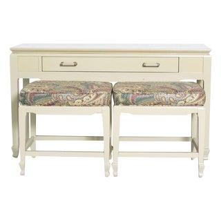 Lacquered Console and Benches For Sale