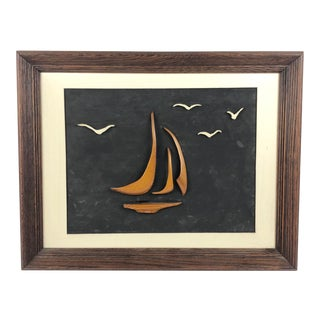 Vintage Modern Sailboat Wall Art For Sale