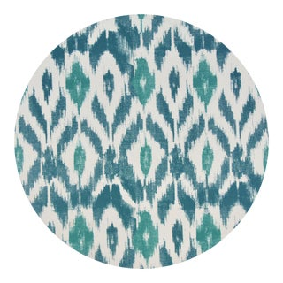 Ikat Placemat in Aegean For Sale