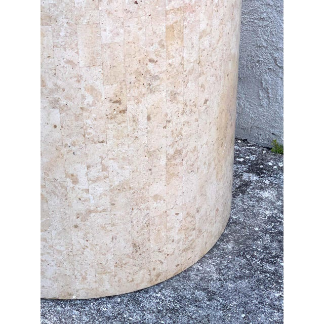 Late 20th Century Late 20th Century Modern Tessellated Stone Pedestal by Maitland-Smith For Sale - Image 5 of 8