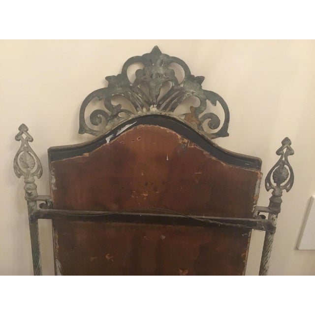 1940s 1940s Vintage Metal Iron Mirror For Sale - Image 5 of 7