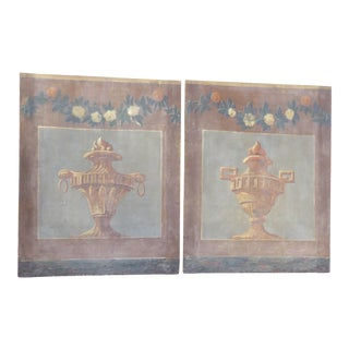 18th Century French Gray-Blue Screen Fragments - a Pair For Sale