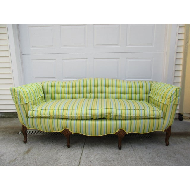 Vintage French Striped Sofa For Sale - Image 11 of 12