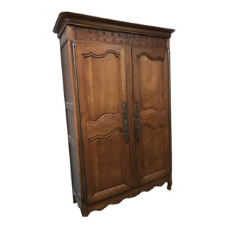 1900s French Cherry Wood Armoire For Sale