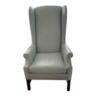 Large Leather Wingback Chair For Sale