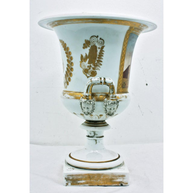 Mid 19th Century French Large Paris Porcelain Urn For Sale - Image 4 of 9