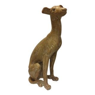 Life Size Plaster Greyhound Statue, 1979