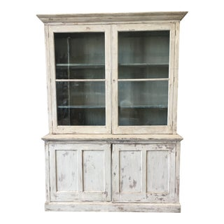 19th Century French Antique Painted Two Door Bookcase For Sale