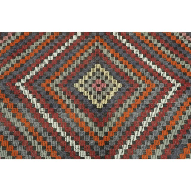 "Vintage Turkish Kilim Rug-6'4'x9'2"" For Sale - Image 6 of 13"