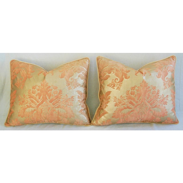 Italian Fortuny Glicine Gold Pillows - A Pair - Image 6 of 11