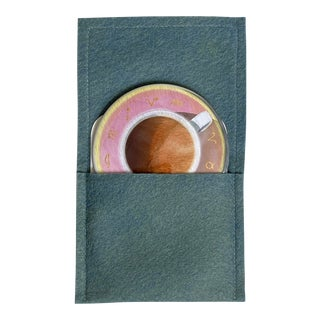 """Astro Tea"" - Pocket Mirror with wool-felt pouch For Sale"