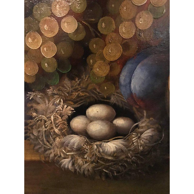A Palatial Framed Oil On Canvas Still Life Of Flowers For Sale - Image 9 of 12
