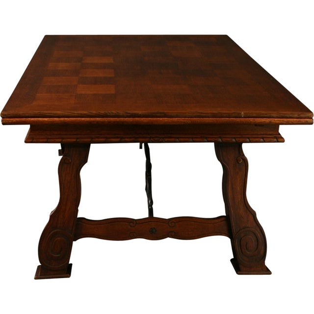 Vintage French Renaissance-Style Dining Table For Sale - Image 9 of 12