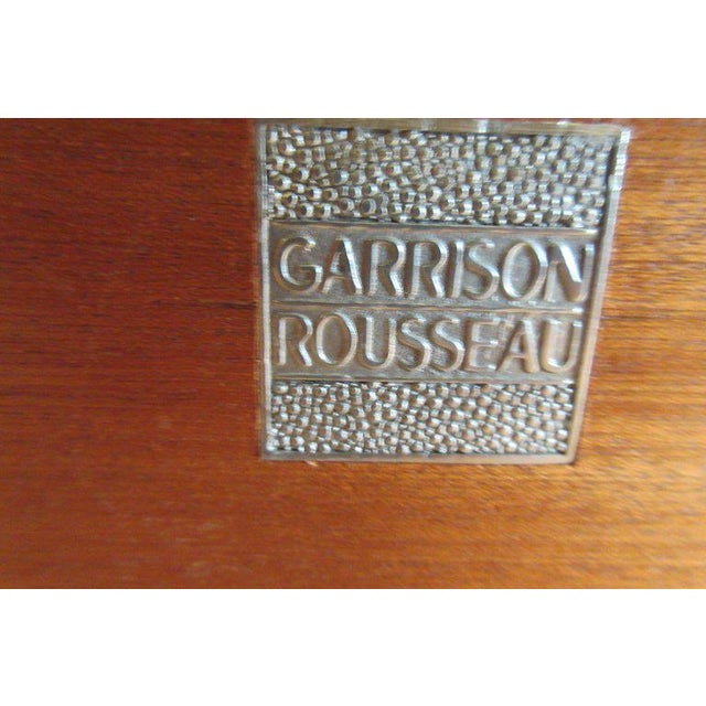 Gold 1980s Contemporary Garrison Rousseau Custom Shagreen and Parchment Side Table For Sale - Image 8 of 13