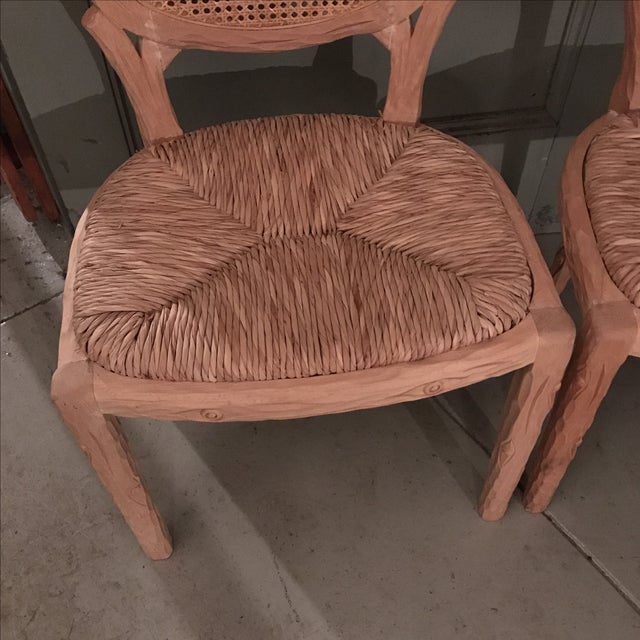 Faux Bois Dining Chairs - Pair For Sale - Image 4 of 10