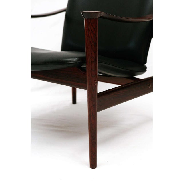 Contemporary Frederik Kayser Rosewood Lounge Chair For Sale - Image 3 of 10