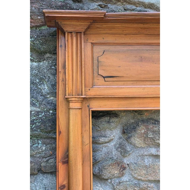 Early 19th Century Pine Fireplace Mantel For Sale - Image 4 of 13
