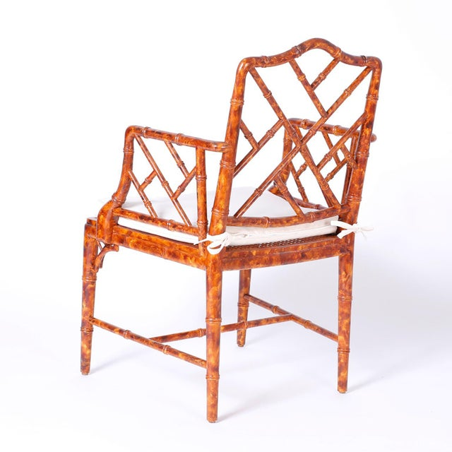 Mid 20th Century Chinese Chippendale Armchairs - Set of 4 For Sale - Image 5 of 11