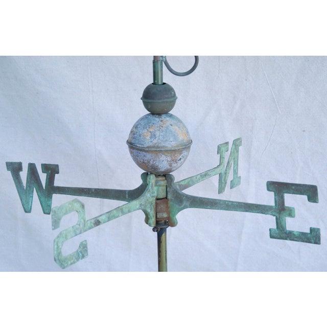 Vintage Copper Fleur de Lis Weathervane With Stand For Sale - Image 5 of 11