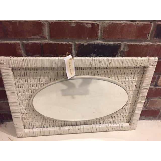 Vintage Cottage Style Wicker Mirror - Image 3 of 4