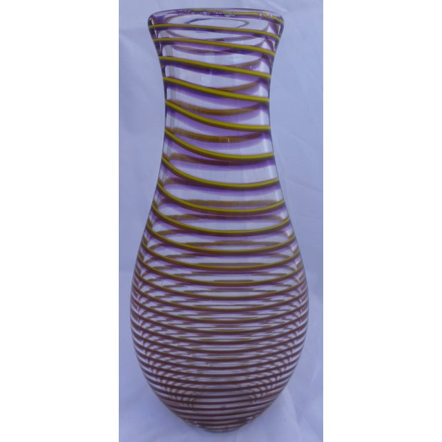 Mid-Century Style Studio Art Glass Vase - Image 4 of 8