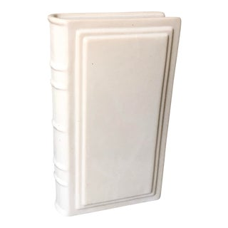 Contemporary White Ceramic Book For Sale