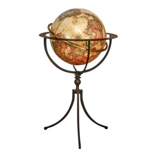 Replogle Floor Globe on Tripod Iron Stand
