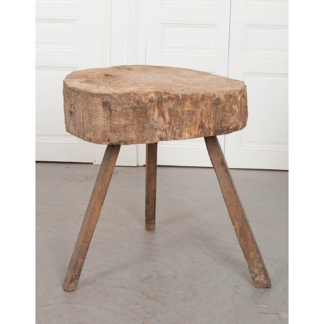 """Mid 19th Century French 19th Century Provincial """"Tree Trunk"""" Chopping Block For Sale In Baton Rouge - Image 6 of 13"""