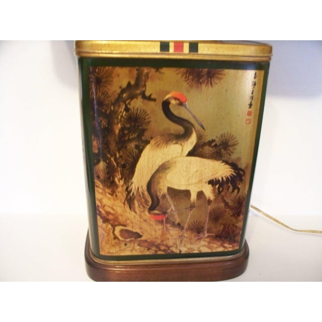 Frederick Cooper Vintage Frederick Cooper Tea Canister Table Lamp With Shade For Sale - Image 4 of 11