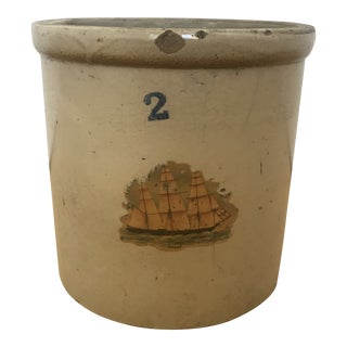 Antique 1920s Rustic Crock For Sale