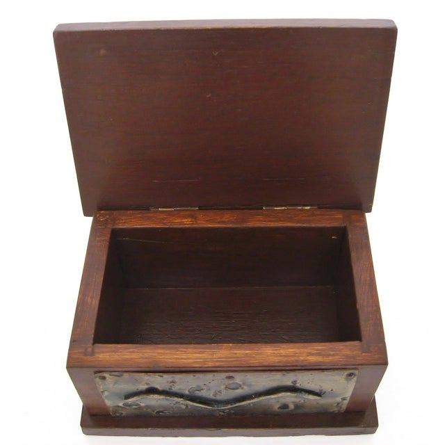 Hand-Crafted Wood & Metal Box - Image 5 of 6