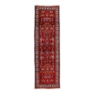"Vintage Persian Heriz Rug, 3'4"" X 10'9"" For Sale"
