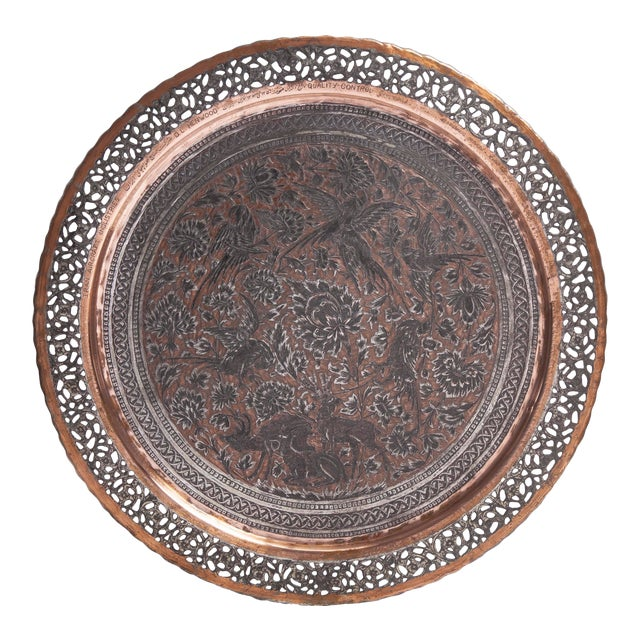 Tinned Copper Commemorative Tray For Sale