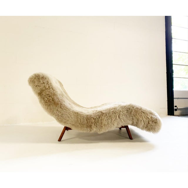 A stunning Adrian Pearsall inspired wave chaise lounge. We upholstered this chaise lounge in our thick and super soft New...