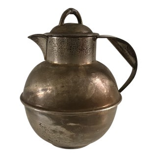 Antique E G Webster Silverplated Carafe For Sale