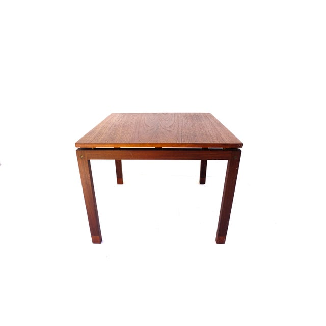 Mid-Century Hans Olsen Teak End Table || Made in Denmark || One of Two For Sale - Image 13 of 13