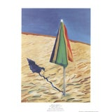 Image of David Hockney, Beach Umbrella, Offset Lithograph, 1988 For Sale