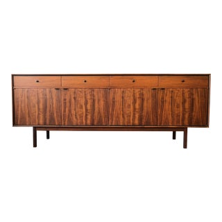 1950s Mid-Century Modern Milo Baughman for Arch Gordon Walnut and Rosewood Credenza For Sale