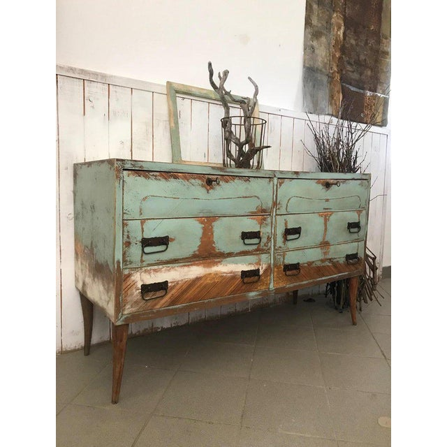 20th Century Italian Vintage Design Lacquered Commode or Chest With Frame For Sale - Image 4 of 13