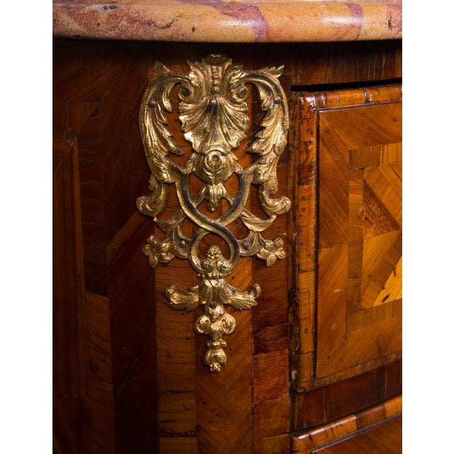 Hollywood Regency French Regence Inlaid Commode For Sale - Image 3 of 5