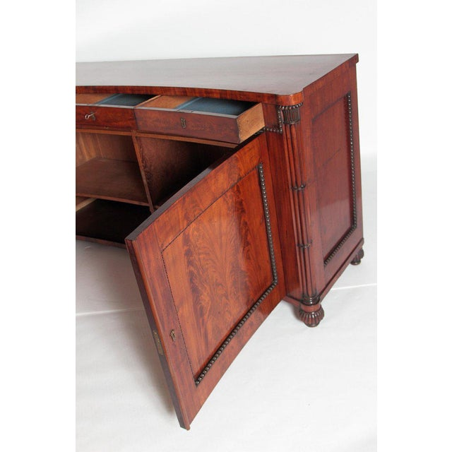 Brown Early 19th Century Regency Bookmatched Crotch Mahogany Cabinet For Sale - Image 8 of 13