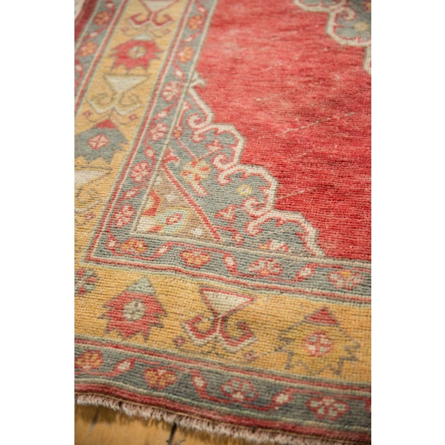 """Vintage Distressed Oushak Rug Runner - 5' X 10'9"""" For Sale In New York - Image 6 of 12"""
