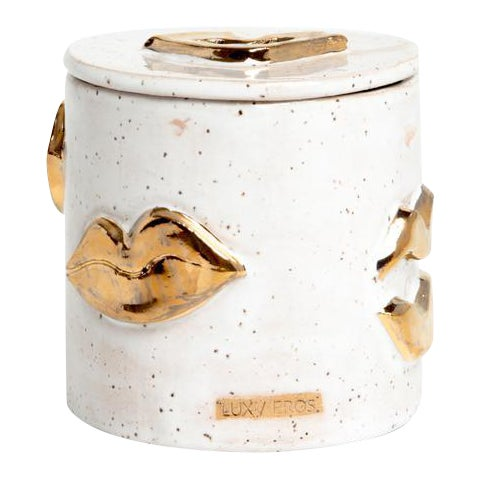 Speckled Sugar Kisses Jar For Sale