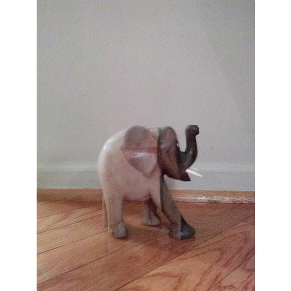 Mid-Century Wood Elephant - Image 3 of 5