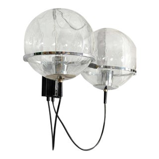 Pair of 1960s RAAK Globe Sconces For Sale